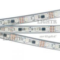 Лента SPI-5000PGS-5060-60 12V Cx3 RGB-Auto (12mm, 13.2W/m, IP67)