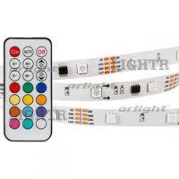 Лента SPI-5000-5060-30 12V Cx3 RGB-Remote (10mm, 7.2W, IP20)