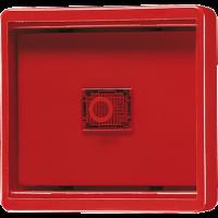 JUNG Клавиша с прозрачной крышкой; красная