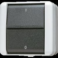 JUNG Выключатель двухполюсный IP44