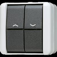 JUNG Выключатель управления жалюзи для накладного монтажа IP44