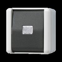 JUNG Кнопка без фиксации с НО контактом; для накладного монтажа IP44
