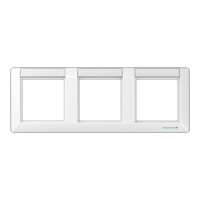 JUNG Рамка 3-кратная с полем для надписи; белая