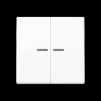 JUNG Клавиши для сдвоенного выключателя с окошком для подсветки; белые