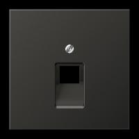 JUNG Крышка для ординарной телефонной и компютерной розетки  UAE; антрацит