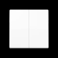 JUNG Клавиши для сдвоенного выключателя; термопласт; белые