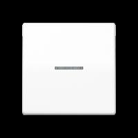 JUNG Клавиша для выключателя с окошком для подсветки; термопласт; белая