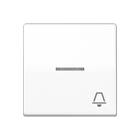 """JUNG Клавиша для выключателя с окошком для подсветки и символом """"звонок""""; белая"""