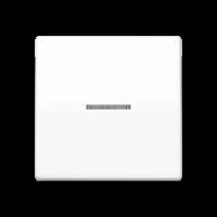 JUNG Клавиша для выключателя с окошком для подсветки; белая