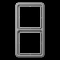 JUNG Рамка для вертикальной и горизонтальной установки, 2-кратная; серая