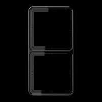 JUNG Рамка для вертикальной и горизонтальной установки, 2-кратная; черная