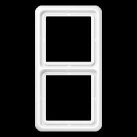 JUNG Рамка для вертикальной и горизонтальной установки, 2-кратная; слоновая кость